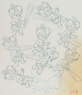 Animation Art:Production Drawing, The Flintstones Bamm Bamm Original Art Illustration(Hanna-Barbera, 1970s)....