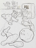 Animation Art:Production Drawing, The Flintstones Pepsi Promotional Poster Illustration(Hanna-Barbera, 1970s)....