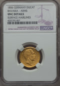 German States:Bavaria, German States: Bavaria. Maximilian II gold Ducat 1856 UNC Details(Surface Hairlines) NGC,...