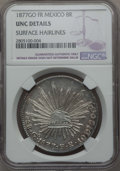 Mexico, Mexico: Republic 8 Reales 1877 Go-FR UNC Details (SurfaceHairlines) NGC,...
