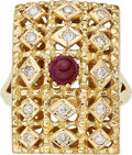 Estate Jewelry:Rings, Ruby, Diamond, Gold Ring, Lalaounis. ...