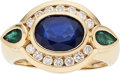 Estate Jewelry:Rings, Sapphire, Emerald, Diamond, Gold Ring. ...