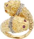 Estate Jewelry:Rings, Diamond, Ruby, Gold Ring, Lalaounis. ...
