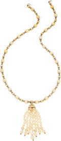 Estate Jewelry:Necklaces, Bone, Gold Necklace. ...