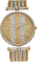 Estate Jewelry:Watches, Bueche Girod Gentleman's Diamond, Gold Watch. ...