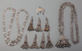 Estate Jewelry:Other , Ten Silver-Plated Jewelry Articles from Oman, 20th century. 41-1/2inches long (105.4 cm) (chain length, largest). The lot... (Total:9 Items)