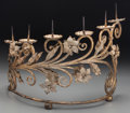 Decorative Arts, Continental:Lamps & Lighting, A Baroque-Style Gilt Metal Six-Light Pricket. 13-1/2 h x 15-1/2 w x10 d inches (34.3 x 39.4 x 25.4 cm). Also included i...