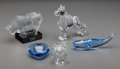 Art Glass:Steuben, Five Baccarat, Steuben and Sèvres Glass Table Items, 20th century.Marks: (various marks to each). 5-1/2 h x 6-1/2 w inches ...(Total: 5 Items)