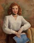 Paintings, Robert Ayres (American, 20th Century). Portrait of Shirley Temple, 1945. Oil on canvas. 30 x 24 inches (76.2 x 61.0 cm)...
