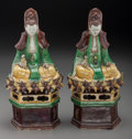 Asian:Chinese, A Pair of Chinese Porcelain Guanyin and Child Figures, 20thcentury. 11-1/8 inches high (28.3 cm). Property from the Per...(Total: 2 Items)