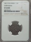 Colombia, Colombia: Cartagena 1/2 Real 1812 VF30 Brown NGC,...