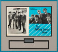 Music Memorabilia:Autographs and Signed Items, Rolling Stones Signed Tour Program, Framed (1964)....