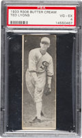 Baseball Cards:Singles (1930-1939), 1933 R306 Butter Cream Ted Lyons PSA VG-EX 4 - Pop Two, One Higher....