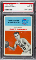Basketball Cards:Singles (Pre-1970), 1961 Fleer Dave Gambee #13 PSA Mint 9....