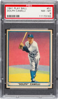 Baseball Cards:Singles (1940-1949), 1941 Play Ball Dolph Camilli #51 PSA NM-MT 8....