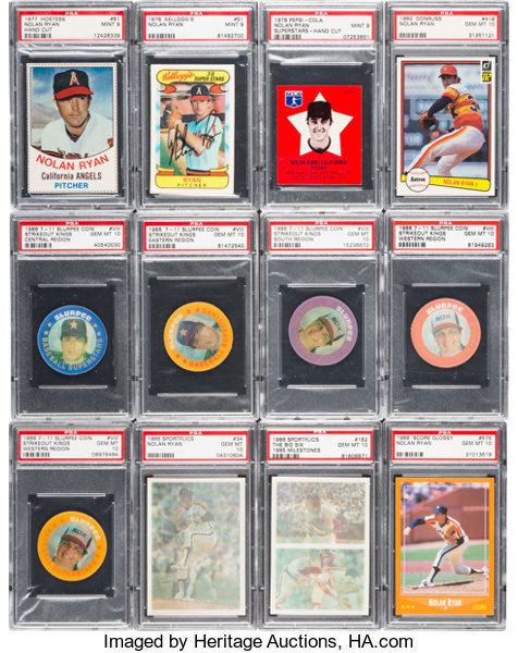1976 1994 Multi Brand Nolan Ryan Psa Graded Collection 347