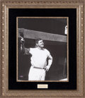 Baseball Collectibles:Others, 1930's Babe Ruth Signed Display. ...