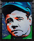 Baseball Collectibles:Others, 2000's Babe Ruth Giclee by W. Lopez....