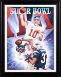 Football Collectibles:Photos, 2008 Eli Manning Signed Super Bowl XLII Giclee....