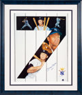 Baseball Collectibles:Others, 1990's Mickey Mantle Signed Print....