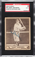 Baseball Cards:Singles (1940-1949), Signed 1940 Play Ball Hank Greenberg #40 SGC Authentic....