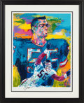 """Football Collectibles:Others, 1996 """"Lawrence Taylor"""" Serigraph Signed by LeRoy Neiman...."""
