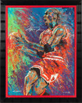 Basketball Collectibles:Photos, 2000's Michael Jordan Signed Giclee by William Lopa #HC23/23. ...