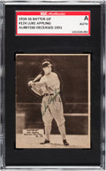 Baseball Cards:Singles (1930-1939), Signed 1934-36 Batter-Up Luke Appling #124 SGC Authentic....