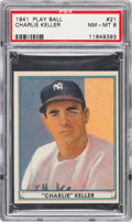 Baseball Cards:Singles (1940-1949), 1941 Play Ball Charlie Keller #21 PSA NM-MT 8....