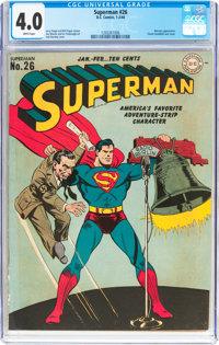 Superman #26 (DC, 1944) CGC VG 4.0 White pages