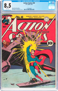 Action Comics #48 (DC, 1942) CGC VF+ 8.5 White pages