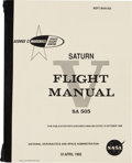 Explorers:Space Exploration, NASA Saturn V Flight Manual Book SA-505, Reprint. ...