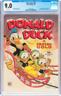 Golden Age (1938-1955):Cartoon Character, Four Color #62 Donald Duck (Dell, 1945) CGC VF/NM 9.0 White pages....