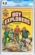 Golden Age (1938-1955):Adventure, Boy Explorers Comics #1 File Copy (Harvey, 1946) CGC VF/NM 9.0 Off-white pages....