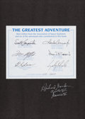 Autographs:Celebrities, The Greatest Adventure Limited Edition Book (#650/2000) Signed by Seven Astronauts. ...
