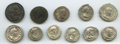 Ancients:Roman Imperial, Ancients: Lot of eleven imperial and late imperial AR, BIL, and AEcoins (AD 96-394). Nearly Very Fine to Good Very Fine... (Total: 11coins)