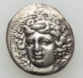 Ancients:Greek, Ancients: THESSALY. Larissa. Ca. 350-325 BC. AR drachm (5.70 gm).Very Fine...