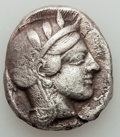 Ancients:Greek, Ancients: ATTICA. Athens. Ca. 454-404 BC. AR tetradrachm (15.79gm). Good Fine...