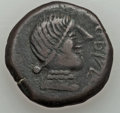 Ancients:Celtic, Ancients: IBERIA. Obulco. Ca. 200-150 BC). AE as (12.10 gm). VeryFine...
