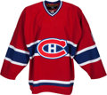 Baseball Collectibles:Uniforms, 2005 Gary Carter Worn Montreal Canadiens Jersey (RetirementCeremony) from The Gary Carter Collection....
