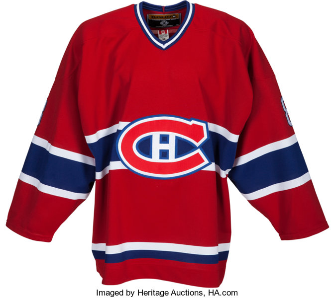 quality design aff3f 5253f 2005 Gary Carter Worn Montreal Canadiens Jersey (Retirement ...
