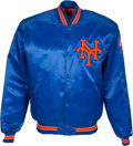 Baseball Collectibles:Uniforms, Mid-1980's Gary Carter Game Worn New York Mets Jacket from The GaryCarter Collection....
