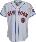 Baseball Collectibles:Uniforms, 2003 Gary Carter Spring Training Worn New York Mets Jersey from The Gary Carter Collection....