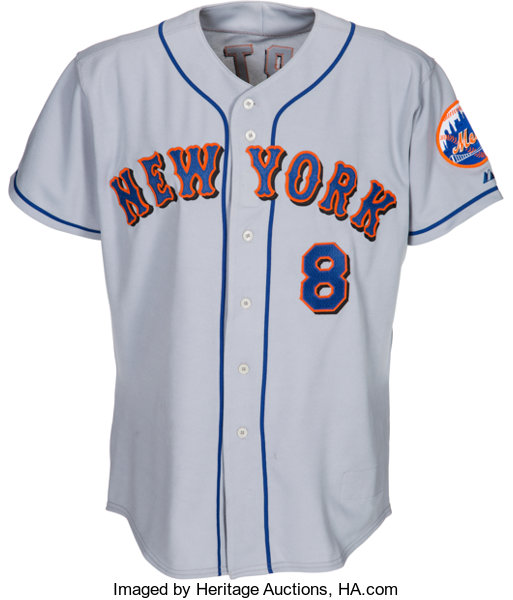 uk availability 3cbc3 af57c 2003 Gary Carter Spring Training Worn New York Mets Jersey ...