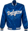 Baseball Collectibles:Uniforms, 1991 Gary Carter Game Worn Los Angeles Dodgers Jacket from The GaryCarter Collection....