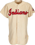 Baseball Collectibles:Uniforms, 1952 Bob Lemon Game Worn Cleveland Indians Jersey....