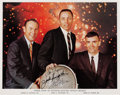 Autographs:Celebrities, Apollo 13 Crew-Signed Color Photo with Jack Swigert. ...