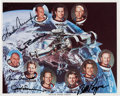 Autographs:Celebrities, Skylab I, II, & III Crews-Signed Color Photo. ...