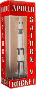 Explorers:Space Exploration, Apollo Saturn V Rocket Model by Cashulette, 1969, Mint in Box. ...