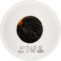 Apollo 12 Flown Heat Shield Plug in Acrylic Display Originally from the Personal Collection of Mission Commander Charles...
